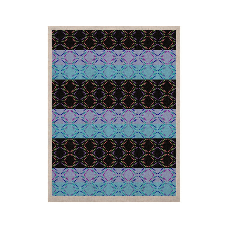 "Nina May ""Denin Diamond"" Blue Black KESS Naturals Canvas (Frame not Included) - KESS InHouse  - 1"