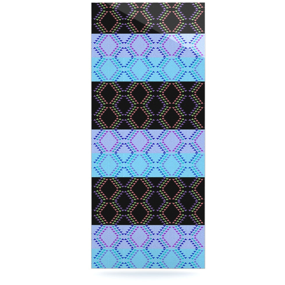 "Nina May ""Denin Diamond"" Blue Black Luxe Rectangle Panel - KESS InHouse  - 1"