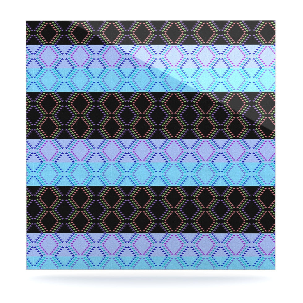 "Nina May ""Denin Diamond"" Blue Black Luxe Square Panel - KESS InHouse  - 1"