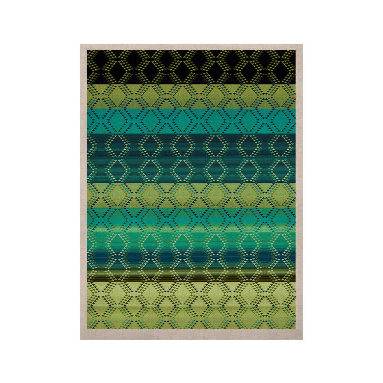 "Nina May ""Denin Diamond Gradient Green"" Turquoise Emerald KESS Naturals Canvas (Frame not Included) - KESS InHouse  - 1"