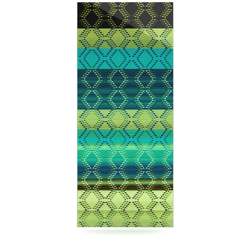 "Nina May ""Denin Diamond Gradient Green"" Turquoise Emerald Luxe Rectangle Panel - KESS InHouse  - 1"