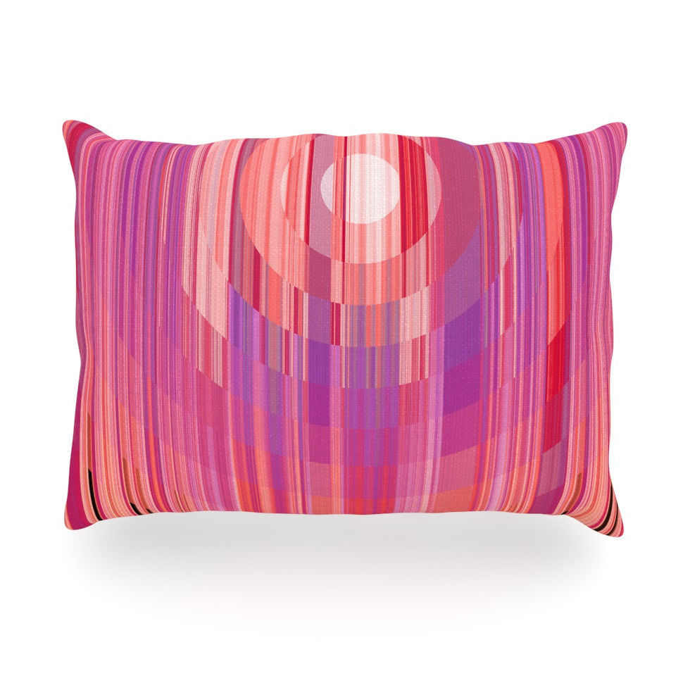 "Nina May ""Mohave Sun"" Pink Geometric Oblong Pillow - KESS InHouse"