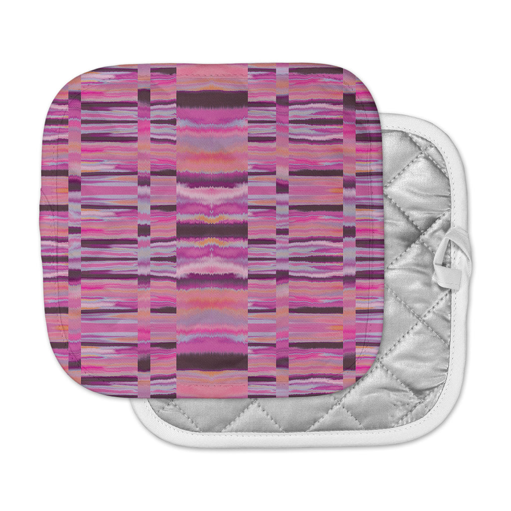 "Nina May ""Samanna Coral"" Pink Tribal Pot Holder"