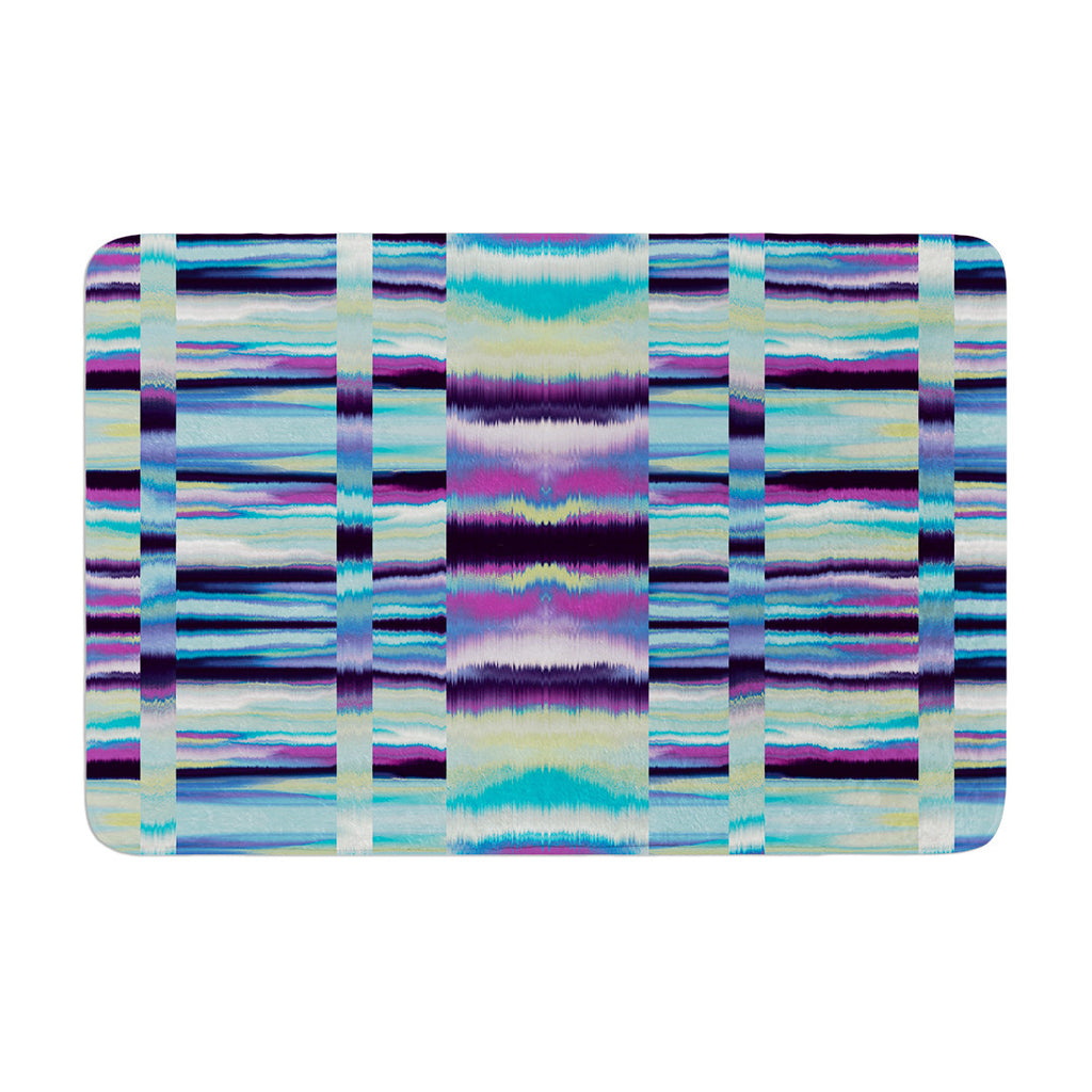 "Nina May ""Samanna"" Blue Tribal Memory Foam Bath Mat - KESS InHouse"