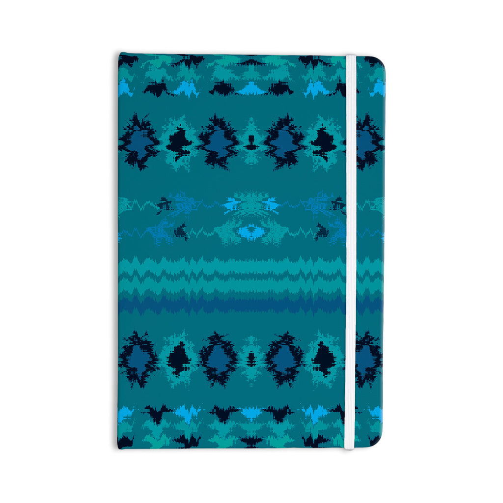 "Nina May ""Turquoise Nava"" Teal Tribal Everything Notebook - KESS InHouse  - 1"