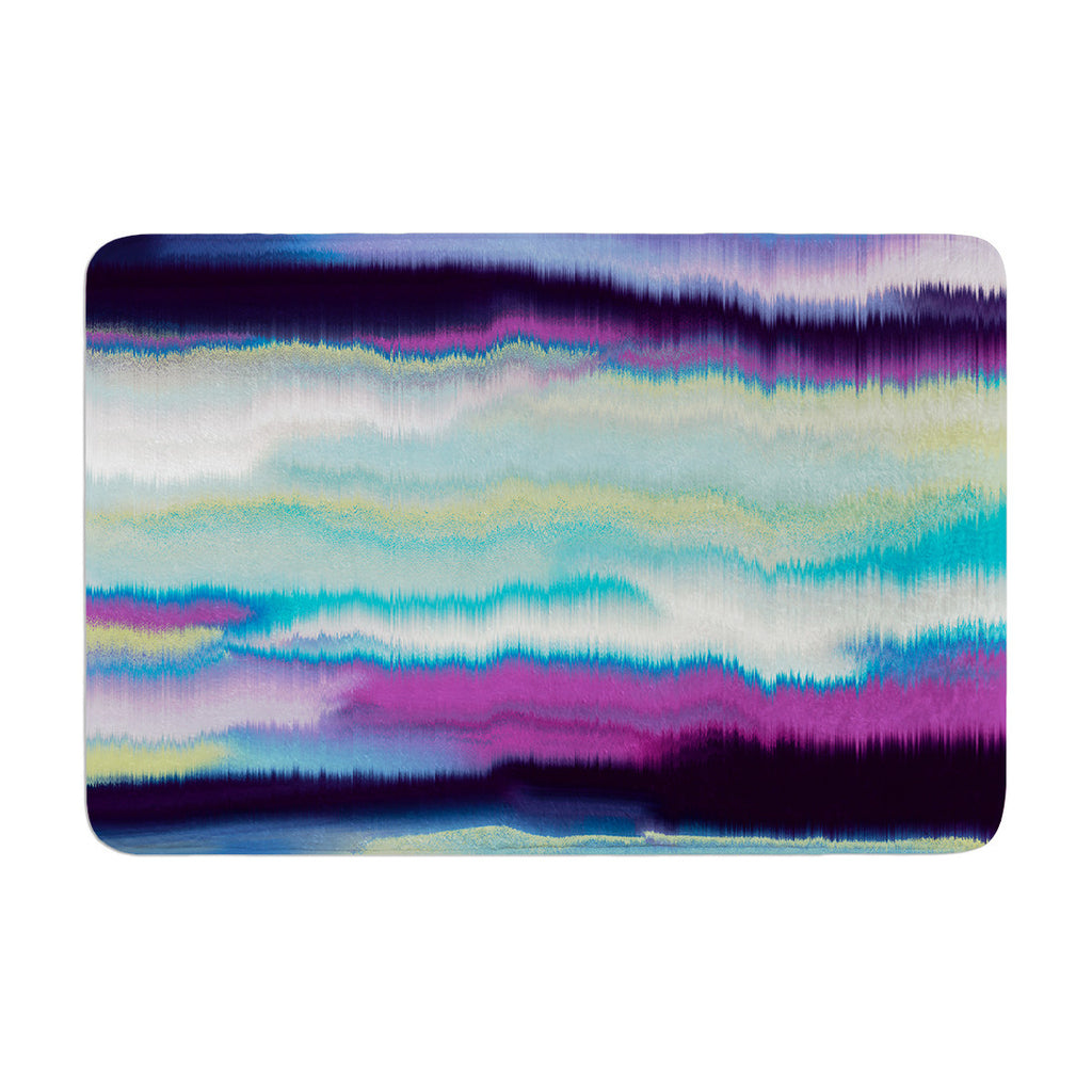 "Nina May ""Artika Blue"" Teal Purple Memory Foam Bath Mat - KESS InHouse"