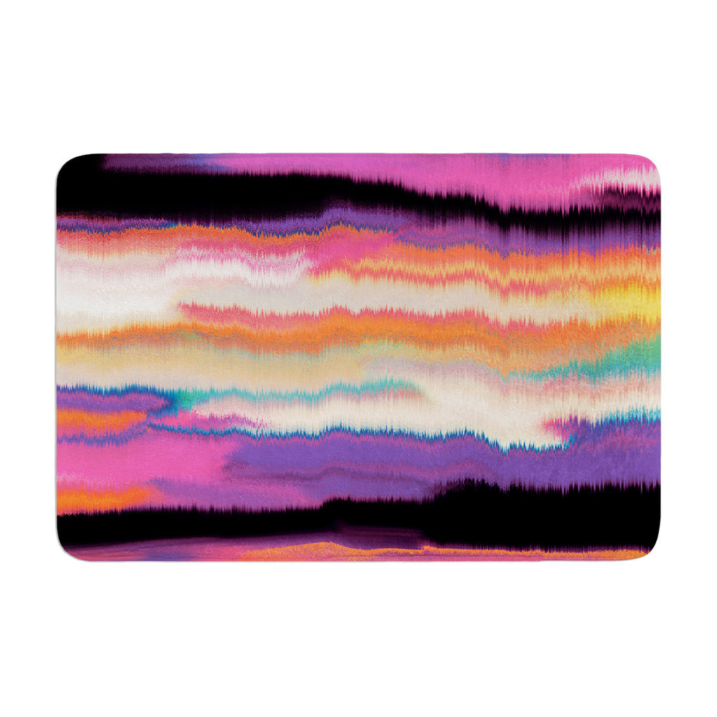 "Nina May ""Artika Sunset"" Purple Orange Memory Foam Bath Mat - KESS InHouse"