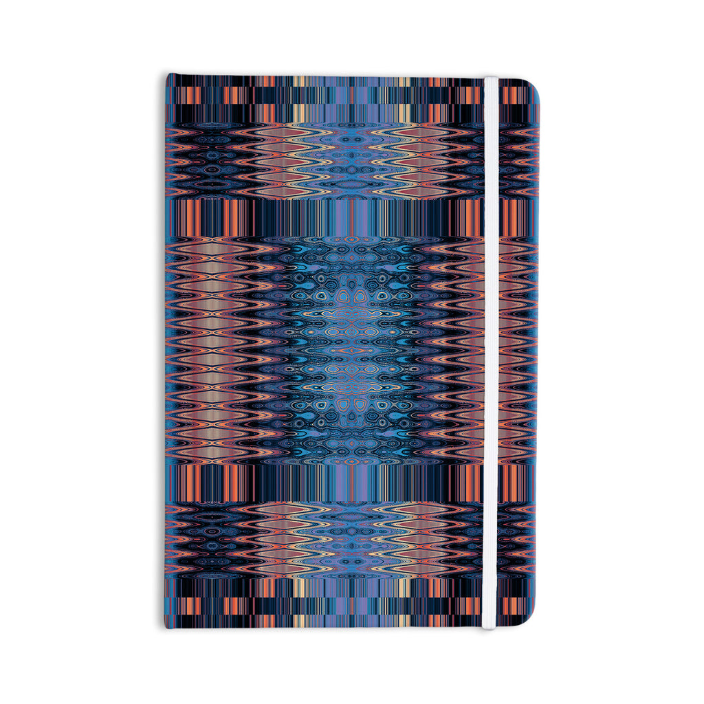 "Nina May ""Larina Nueva Sky"" Blue Orange Everything Notebook - KESS InHouse  - 1"