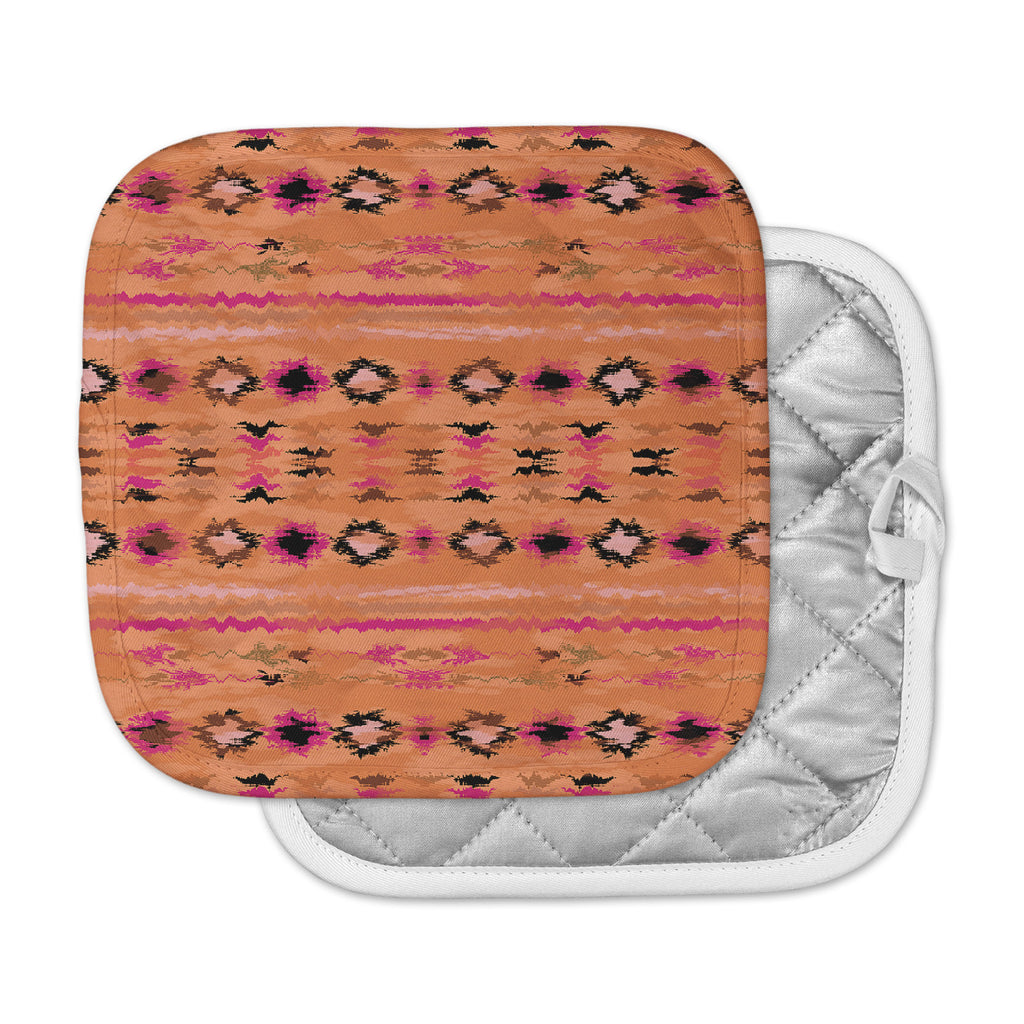 "Nina May ""Navano"" Orange Tribal Pot Holder"