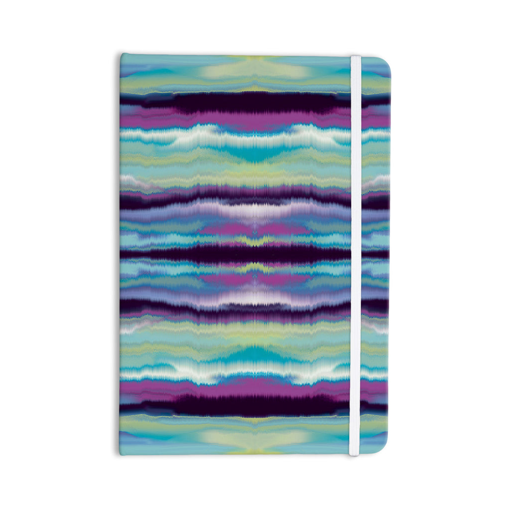 "Nina May ""Artik Blue Stripe"" Blue Teal Everything Notebook - KESS InHouse  - 1"