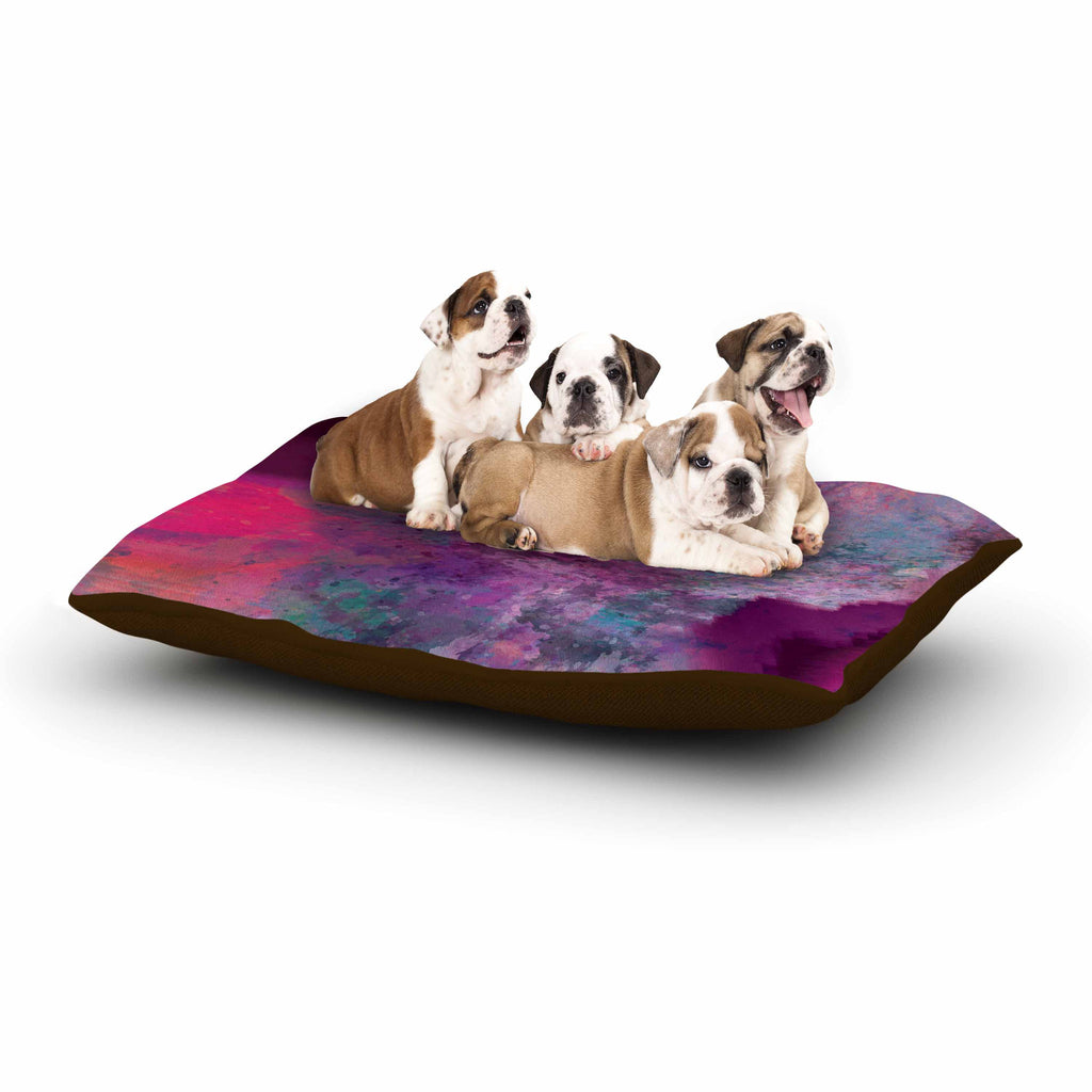 "Nina May ""Mineral Pink "" Purple Watercolor Dog Bed - KESS InHouse  - 1"