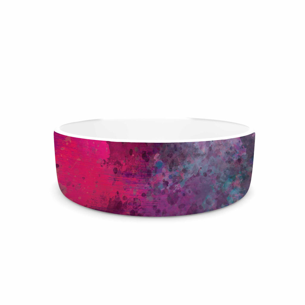 "Nina May ""Mineral Pink "" Purple Watercolor Pet Bowl - KESS InHouse"