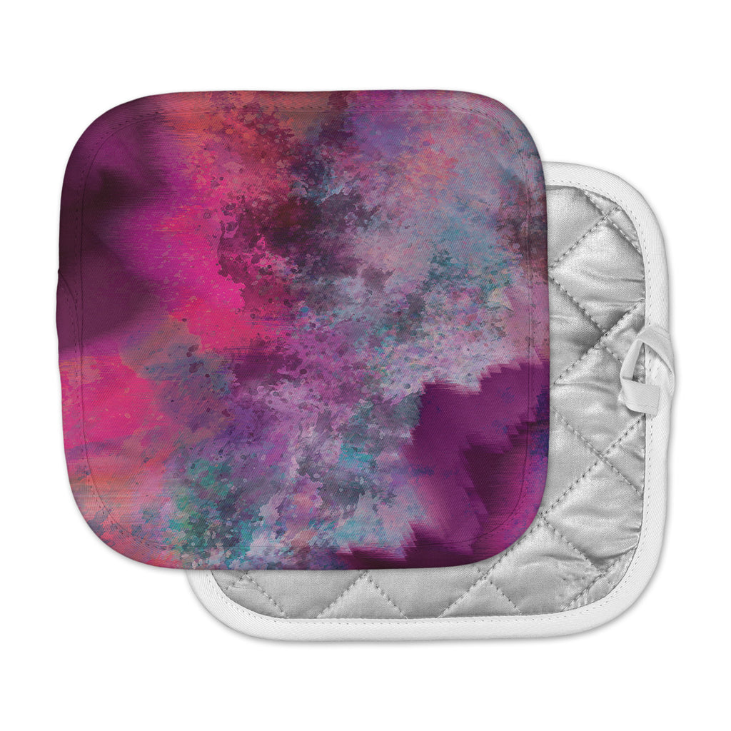 "Nina May ""Mineral Pink "" Purple Watercolor Pot Holder"
