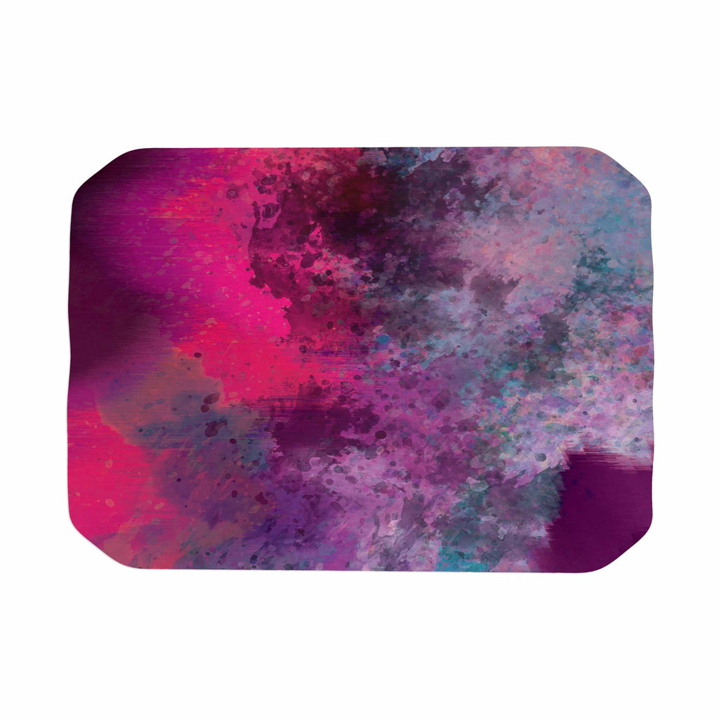 "Nina May ""Mineral Pink "" Purple Watercolor Place Mat - KESS InHouse"