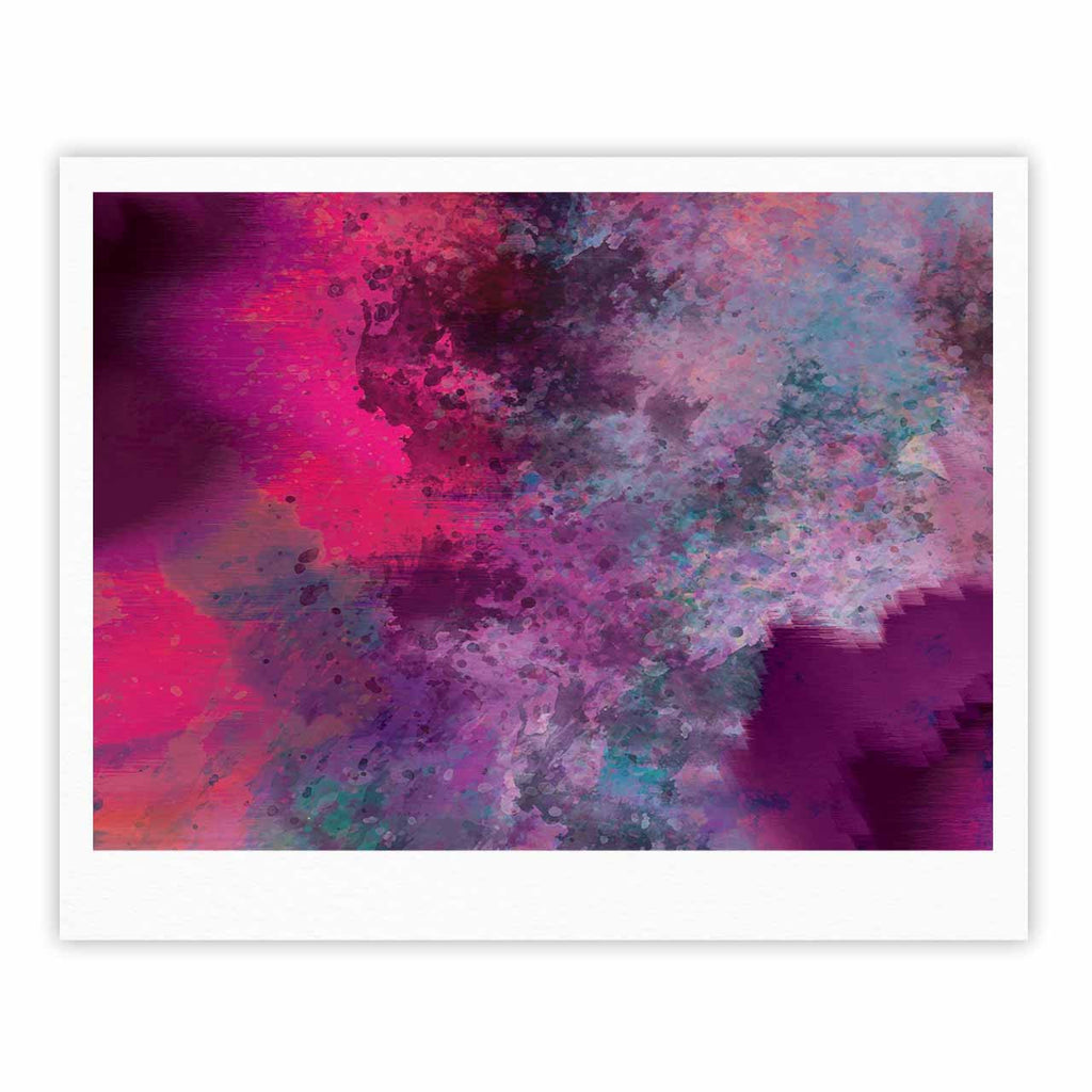 "Nina May ""Mineral Pink "" Purple Watercolor Fine Art Gallery Print - KESS InHouse"