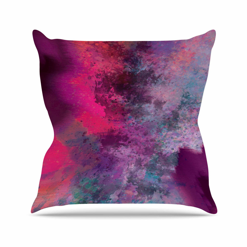 "Nina May ""Mineral Pink "" Purple Watercolor Outdoor Throw Pillow - KESS InHouse  - 1"