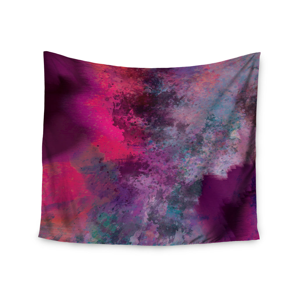 "Nina May ""Mineral Pink "" Purple Watercolor Wall Tapestry - KESS InHouse  - 1"