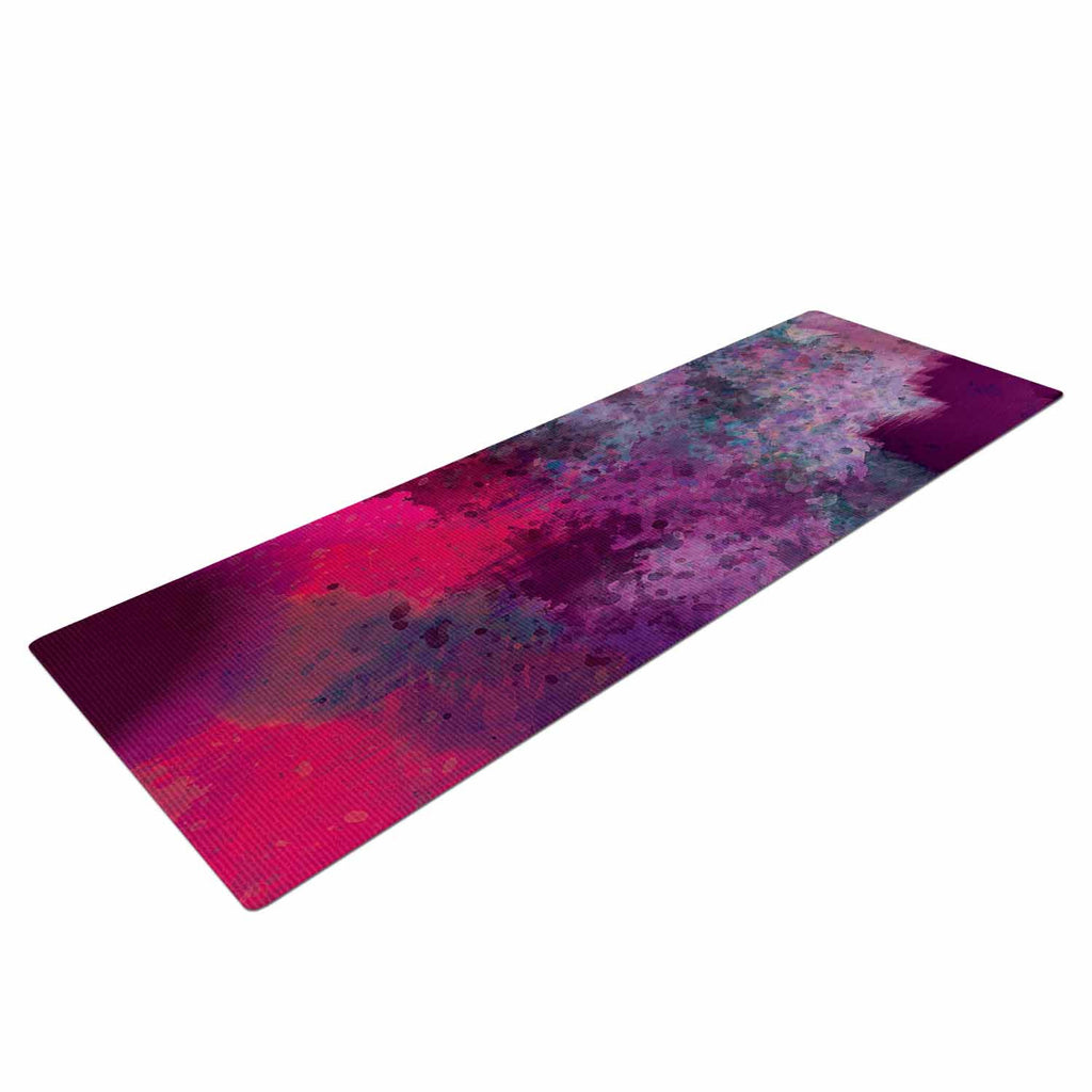 "Nina May ""Mineral Pink "" Purple Watercolor Yoga Mat - KESS InHouse  - 1"