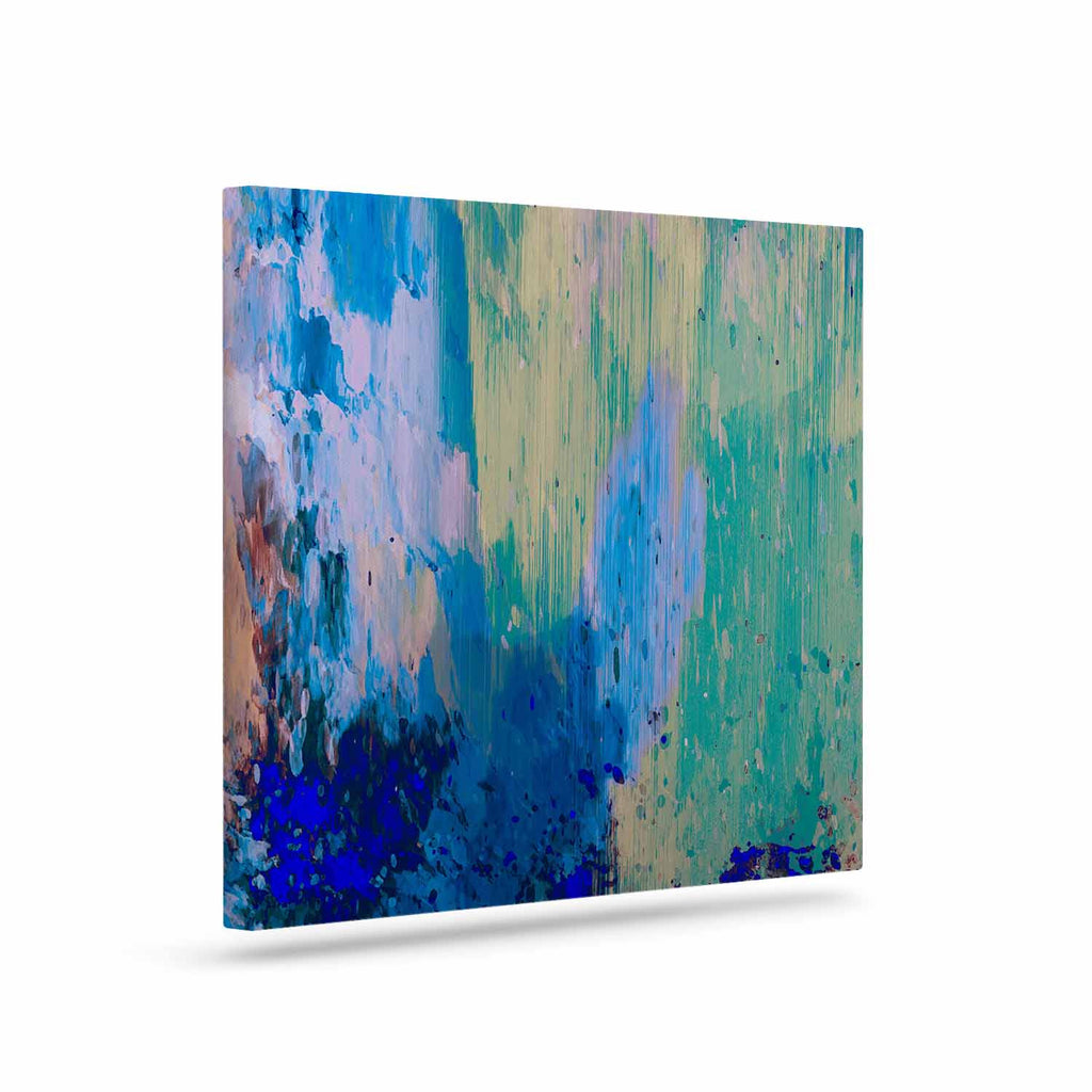 "Nina May ""Mineral Surf"" Blue Abstract Canvas Art - KESS InHouse  - 1"