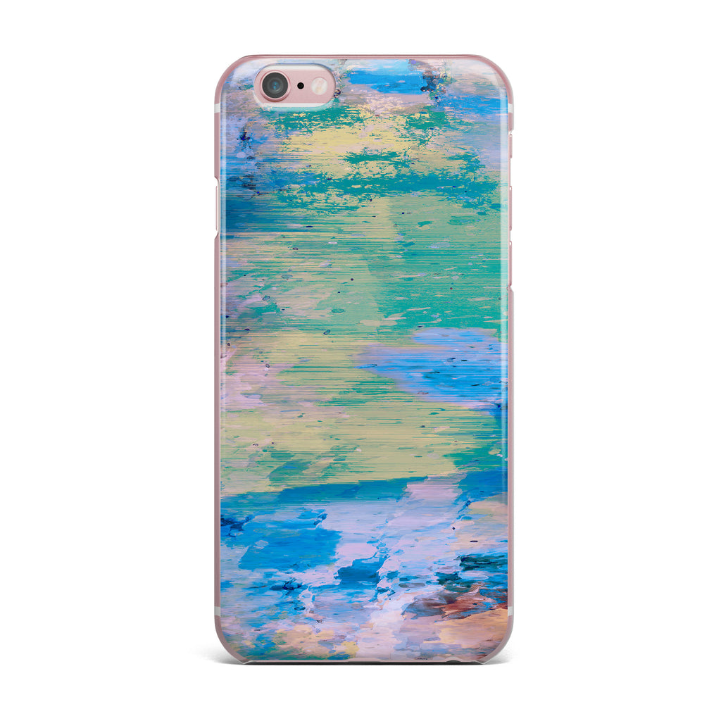 "Nina May ""Mineral Surf"" Blue Abstract iPhone Case - KESS InHouse"