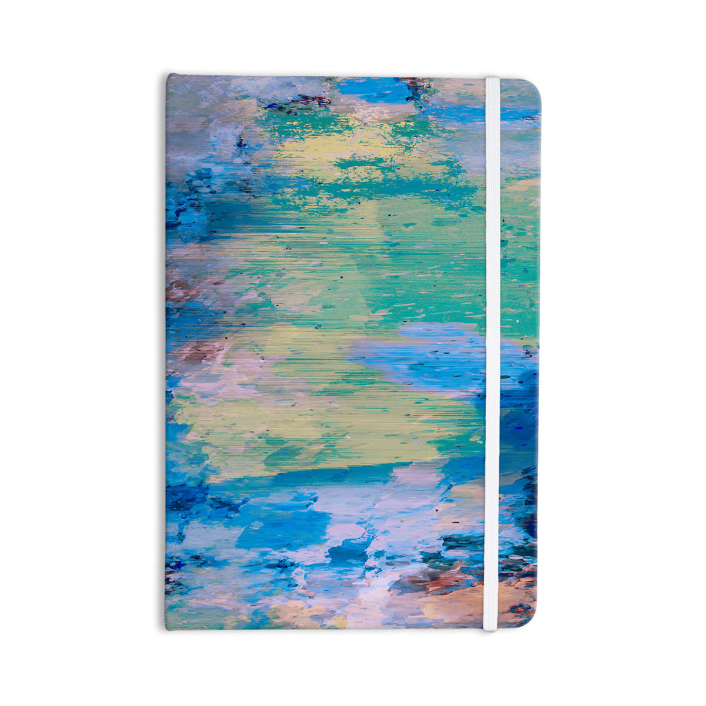 "Nina May ""Mineral Surf"" Blue Abstract Everything Notebook - KESS InHouse  - 1"