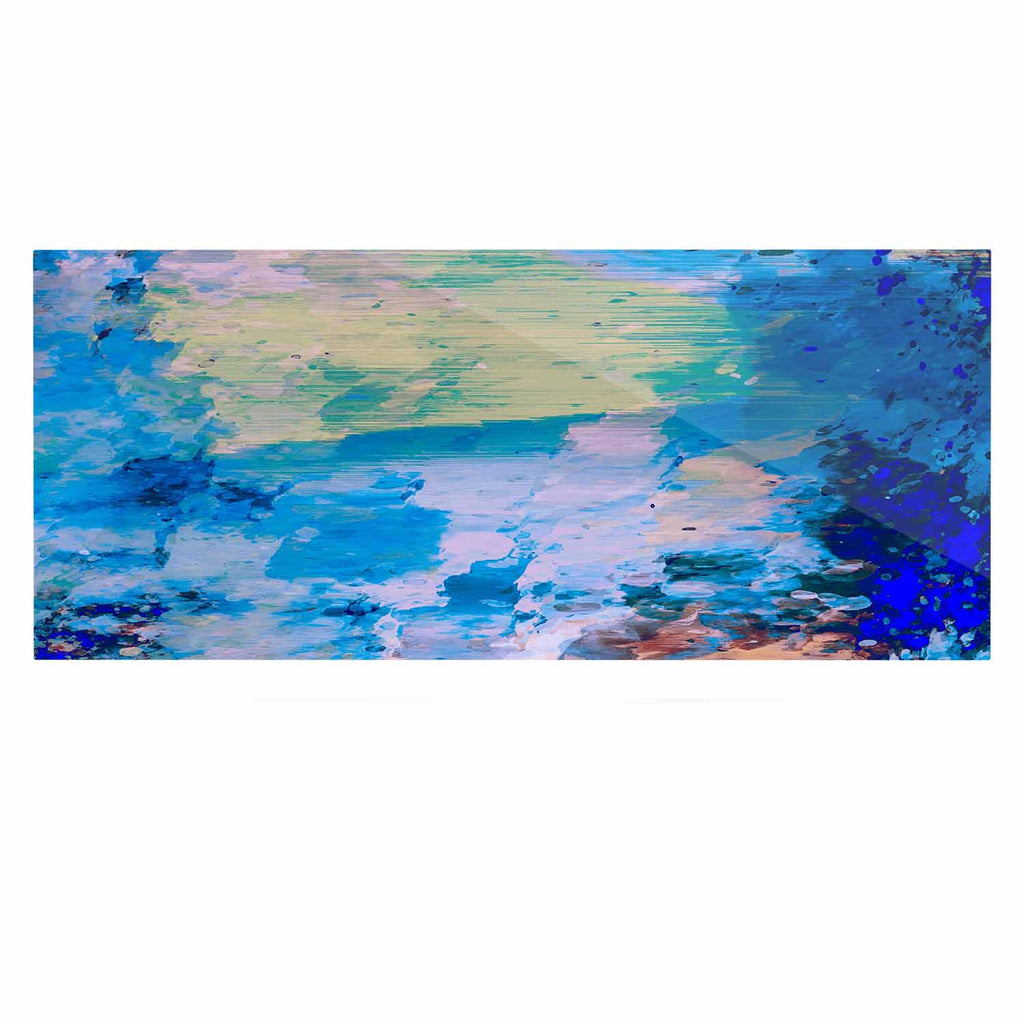 "Nina May ""Mineral Surf"" Blue Abstract Luxe Rectangle Panel - KESS InHouse  - 1"