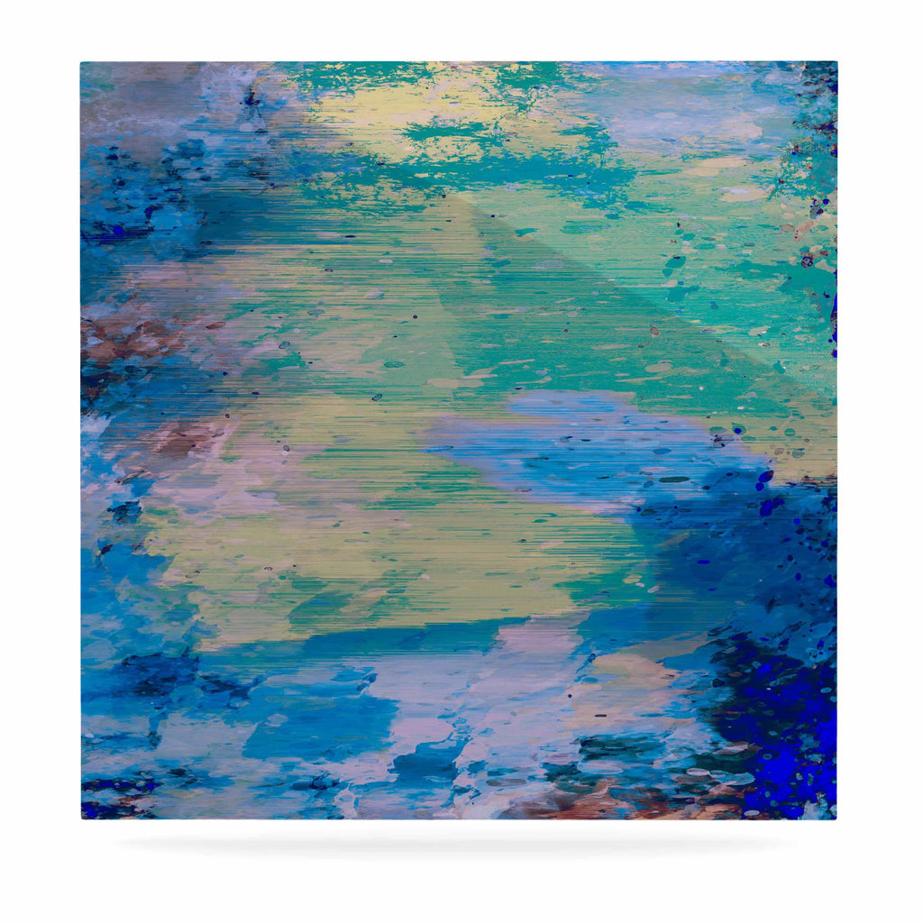 "Nina May ""Mineral Surf"" Blue Abstract Luxe Square Panel - KESS InHouse  - 1"
