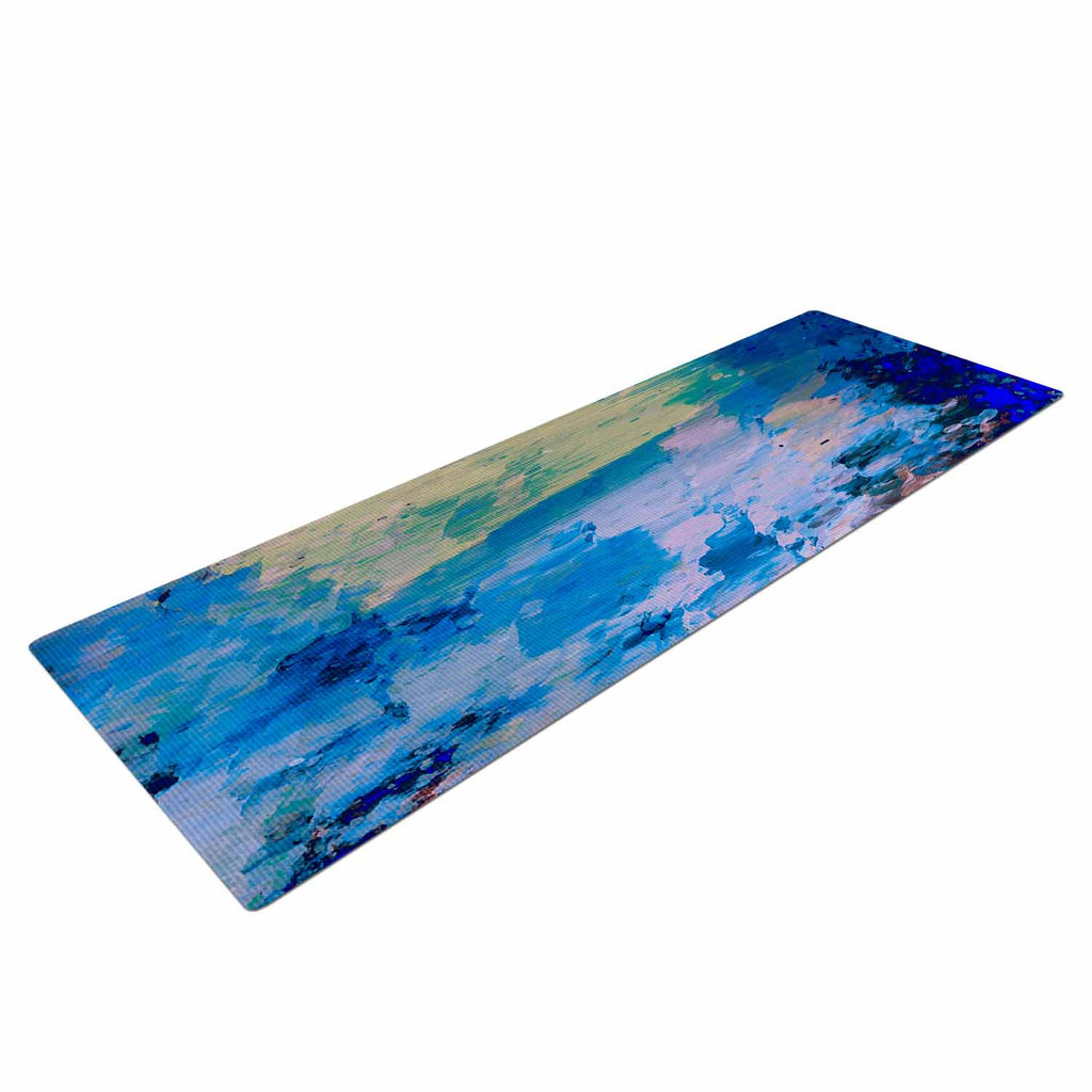 "Nina May ""Mineral Surf"" Blue Abstract Yoga Mat - KESS InHouse  - 1"