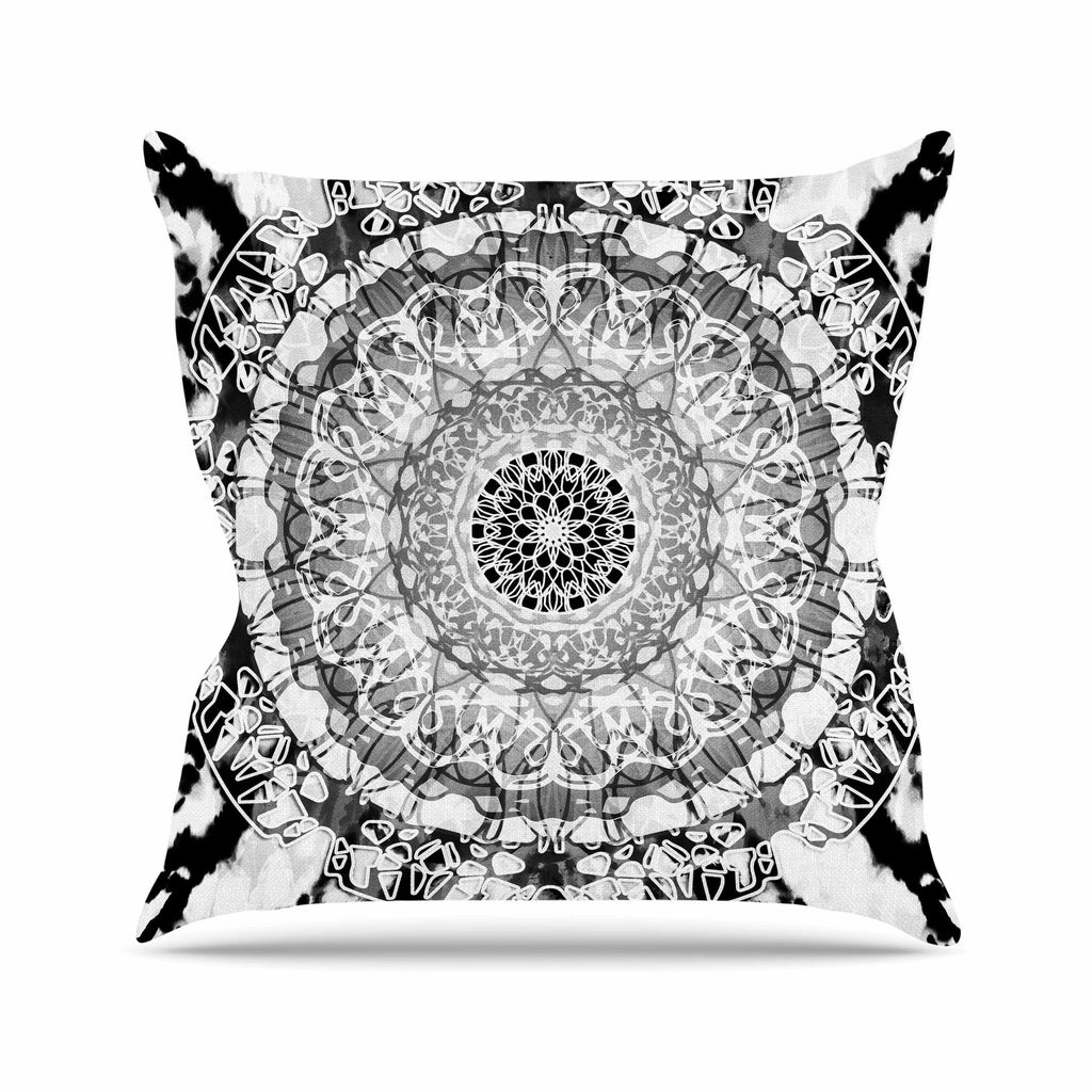Tie Dye Mandala Jain Outdoor Throw Pillow By Nina May Kess