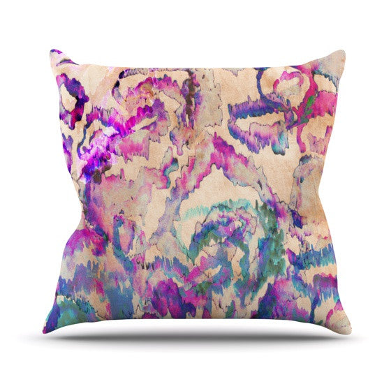 "Nikki Strange ""Weirdi Kat"" Outdoor Throw Pillow - KESS InHouse  - 1"