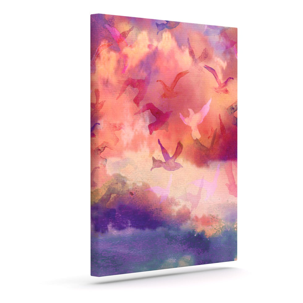 "Nikki Strange ""Souffle Sky"" Outdoor Canvas Wall Art - KESS InHouse  - 1"