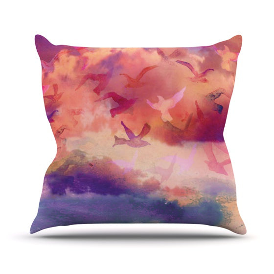 "Nikki Strange ""Souffle Sky"" Throw Pillow - KESS InHouse  - 1"