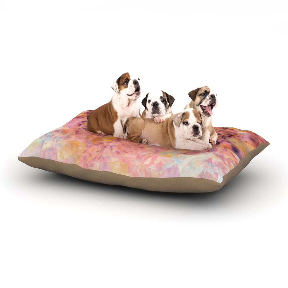 "Nikki Strange ""Blushed Geometric"" Dog Bed - KESS InHouse  - 1"