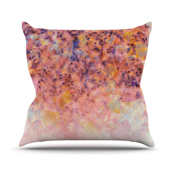 "Nikki Strange ""Blushed Geometric"" Throw Pillow - KESS InHouse  - 1"