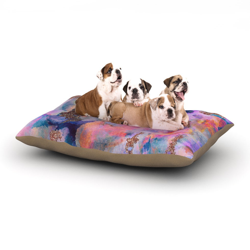 "Nikki Strange ""Sparkle Mist"" Dog Bed - KESS InHouse  - 1"