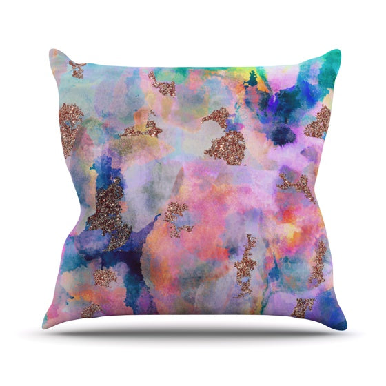 "Nikki Strange ""Sparkle Mist"" Throw Pillow - KESS InHouse  - 1"