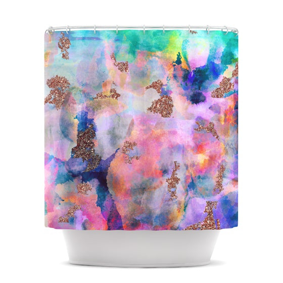 "Nikki Strange ""Sparkle Mist"" Shower Curtain - KESS InHouse"