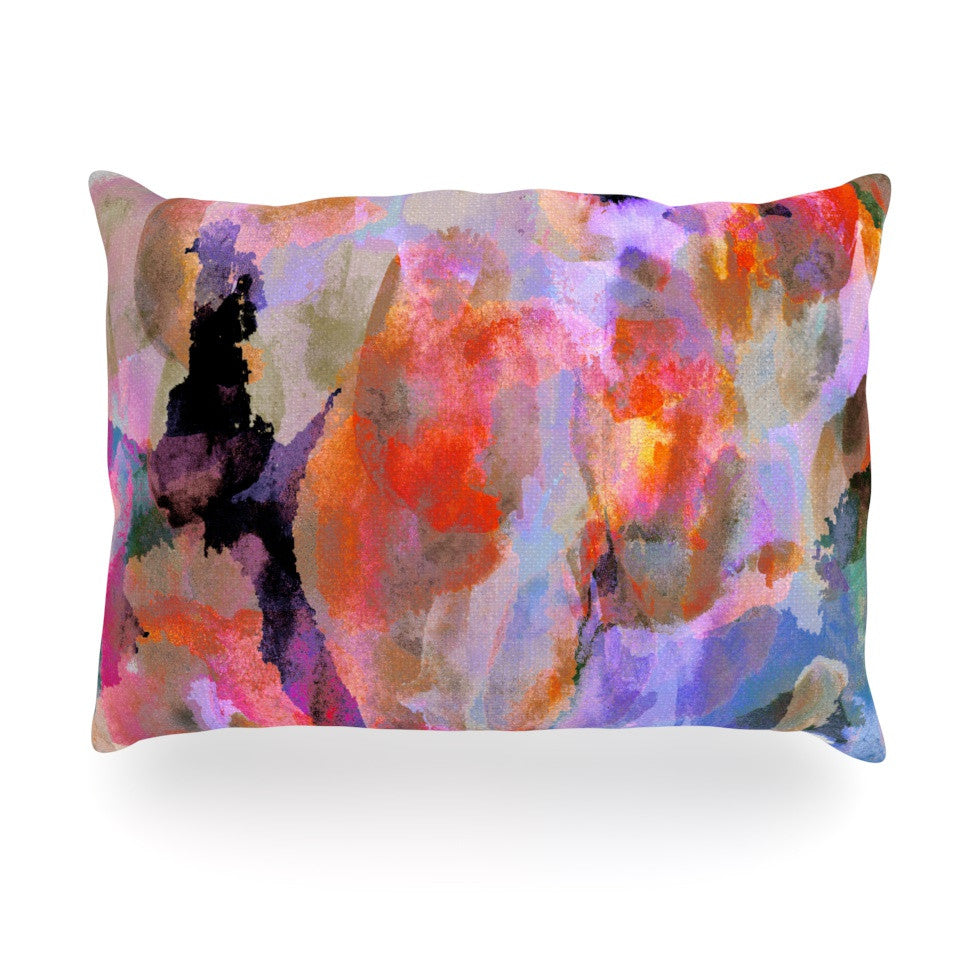 "Nikki Strange ""Painterly Blush"" Oblong Pillow - KESS InHouse"