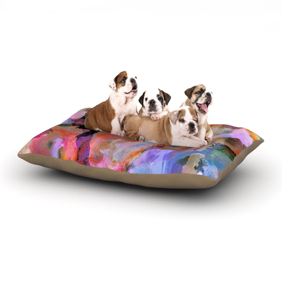 "Nikki Strange ""Painterly Blush"" Dog Bed - KESS InHouse  - 1"