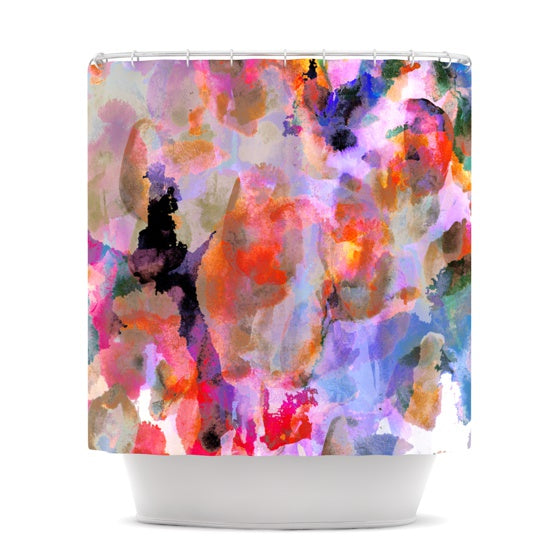 "Nikki Strange ""Painterly Blush"" Shower Curtain - KESS InHouse"