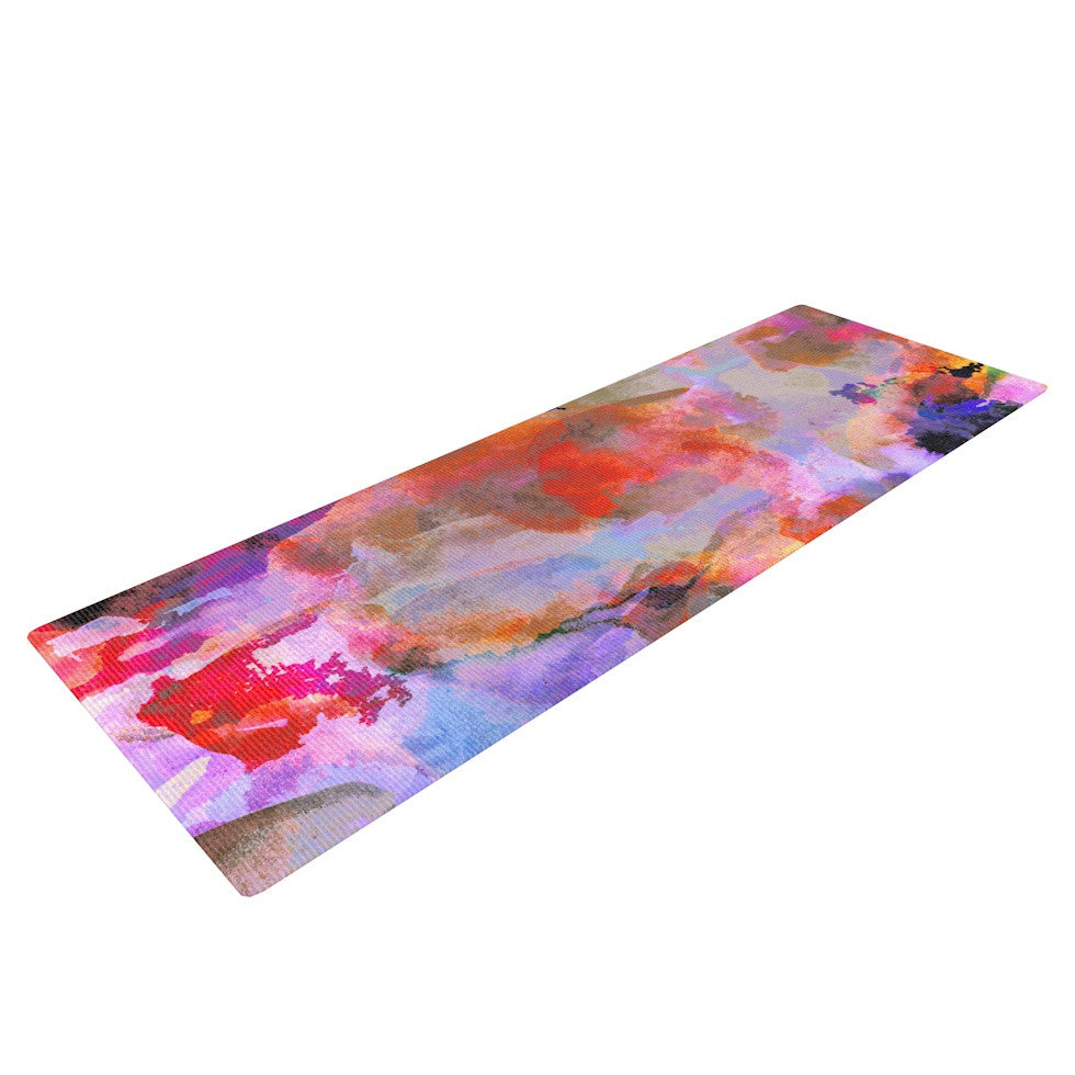 "Nikki Strange ""Painterly Blush"" Yoga Mat - KESS InHouse  - 1"