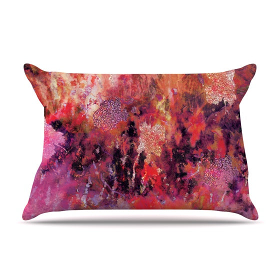 "Nikki Strange ""Indian City"" Pillow Case - KESS InHouse  - 1"