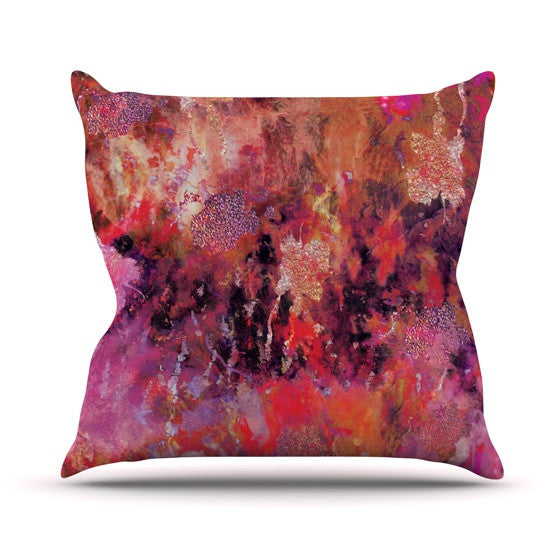 "Nikki Strange ""Indian City"" Outdoor Throw Pillow - KESS InHouse  - 1"