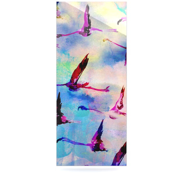 "Nikki Strange ""Flamingo in Flight"" Luxe Rectangle Panel - KESS InHouse  - 1"