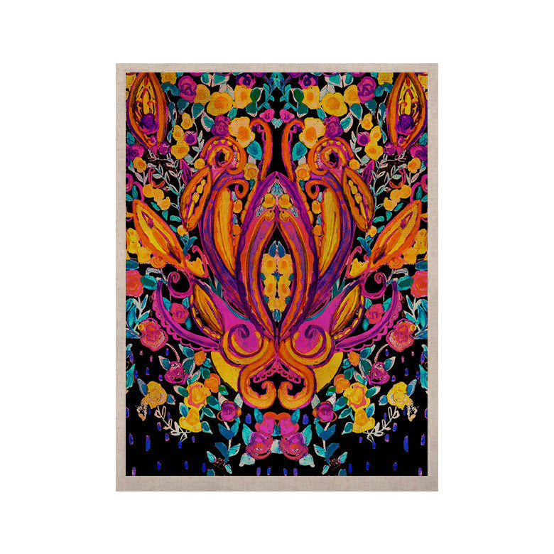 "Nikki Strange ""Paisley Garden"" Wam Pink KESS Naturals Canvas (Frame not Included) - KESS InHouse  - 1"