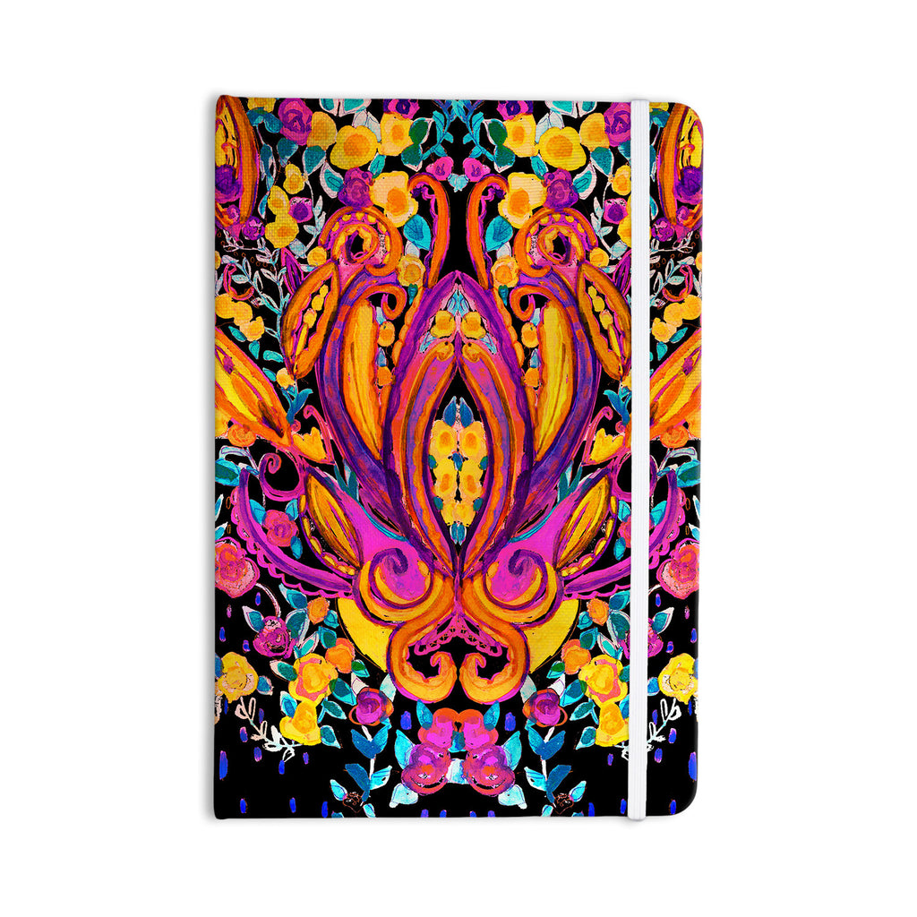 "Nikki Strange ""Paisley Garden"" Wam Pink Everything Notebook - KESS InHouse  - 1"