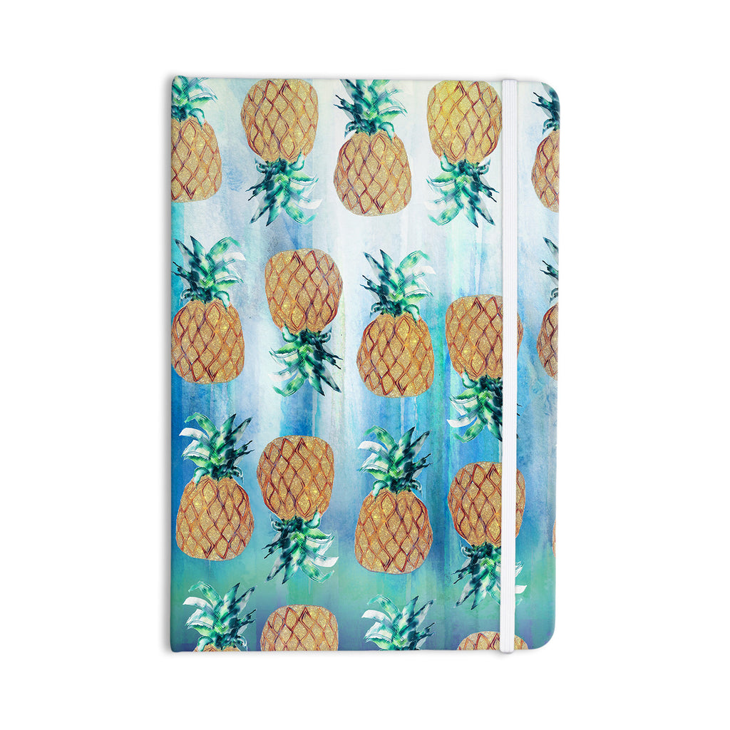 "Nikki Strange ""Pineapple Beach"" Blue Brown Everything Notebook - KESS InHouse  - 1"