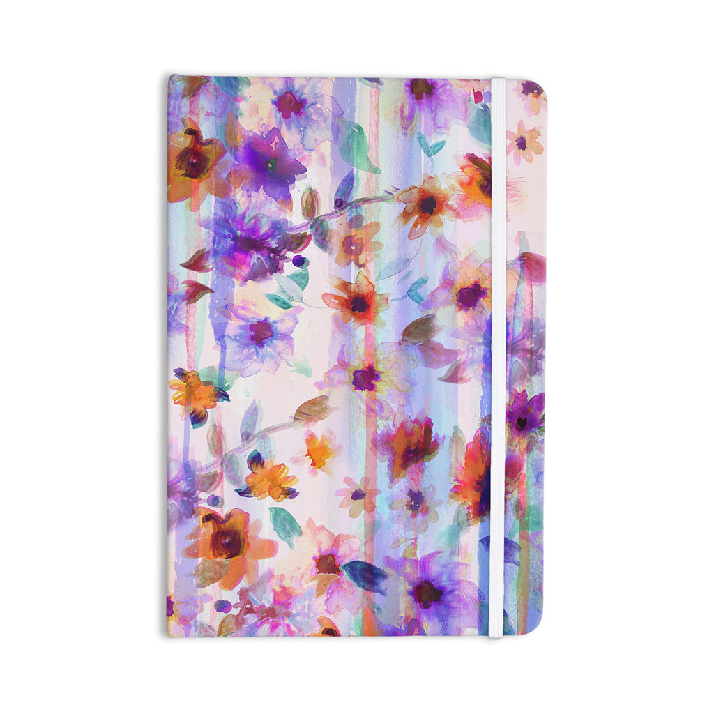 "Nikki Strange ""Floral Ombre"" Pastel Everything Notebook - KESS InHouse  - 1"