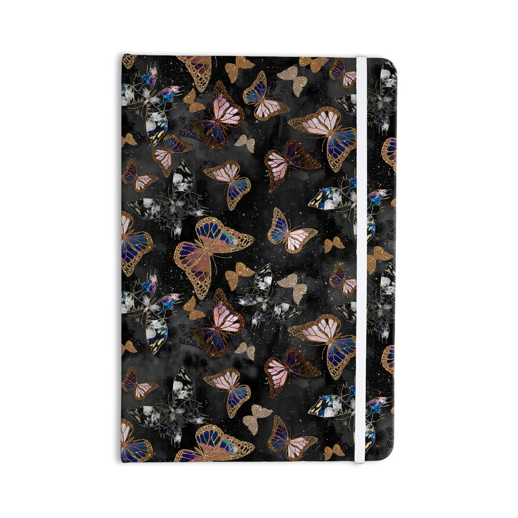 "Nikki Strange ""Galactic Butterfly"" Black Brown Everything Notebook - KESS InHouse  - 1"
