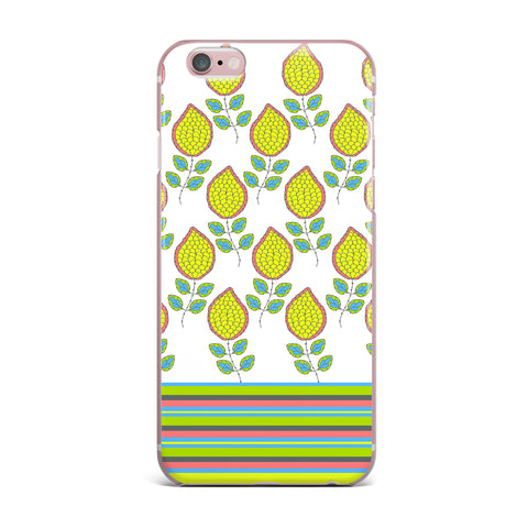 "Nandita Singh ""Yellow Leaves"" Bright Floral iPhone Case - KESS InHouse"